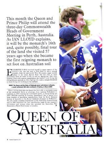 Queen of Australia