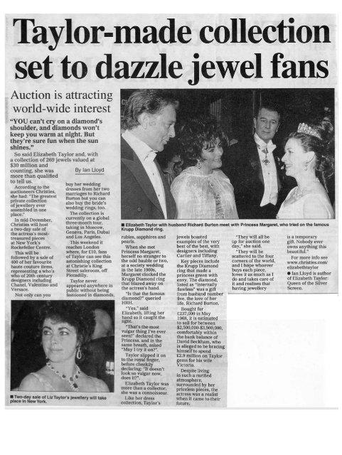 Elizabeth Taylor Auction