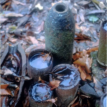 German shells at Sanctuary Wood, Flanders