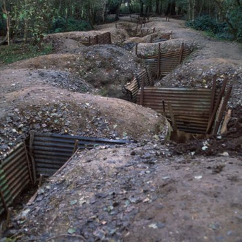 Trenches in Sanctuary Wood, Flanders