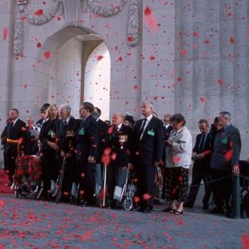 Veterans at Menin Gate, Ypres